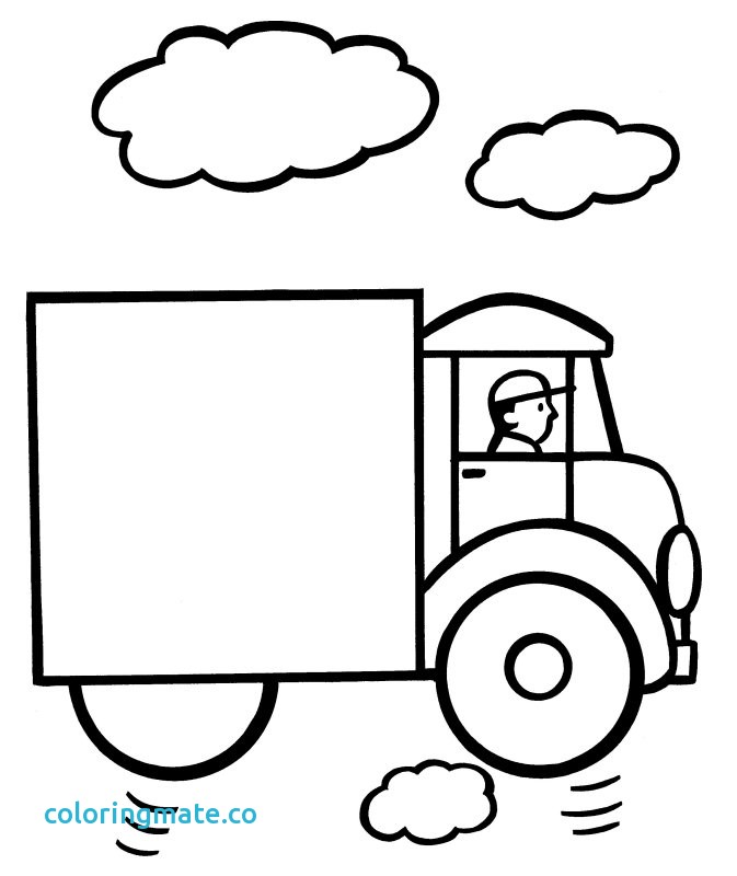673x800 Simple Coloring Pages Inspirational Free Easy Truck Coloring Pages