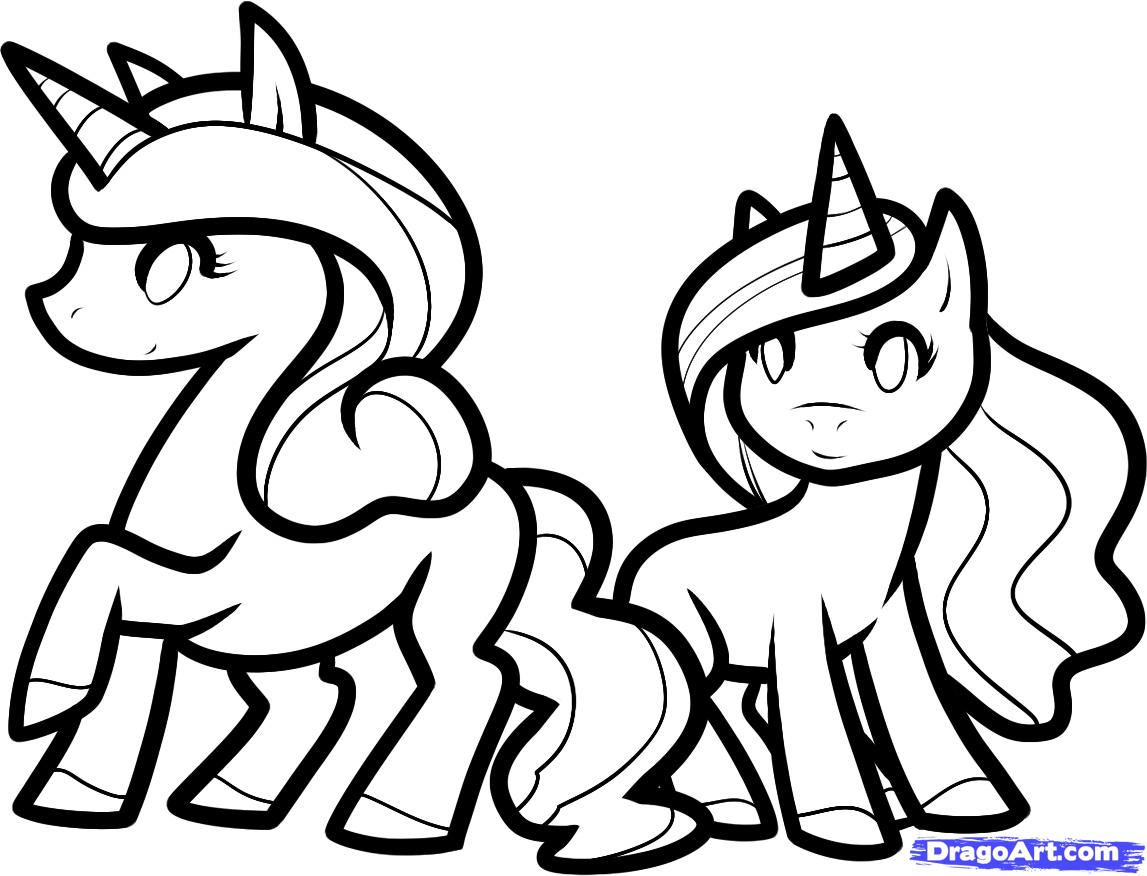 Easy Barbie Coloring Pages : Easy unicorn drawing at getdrawings free for personal use