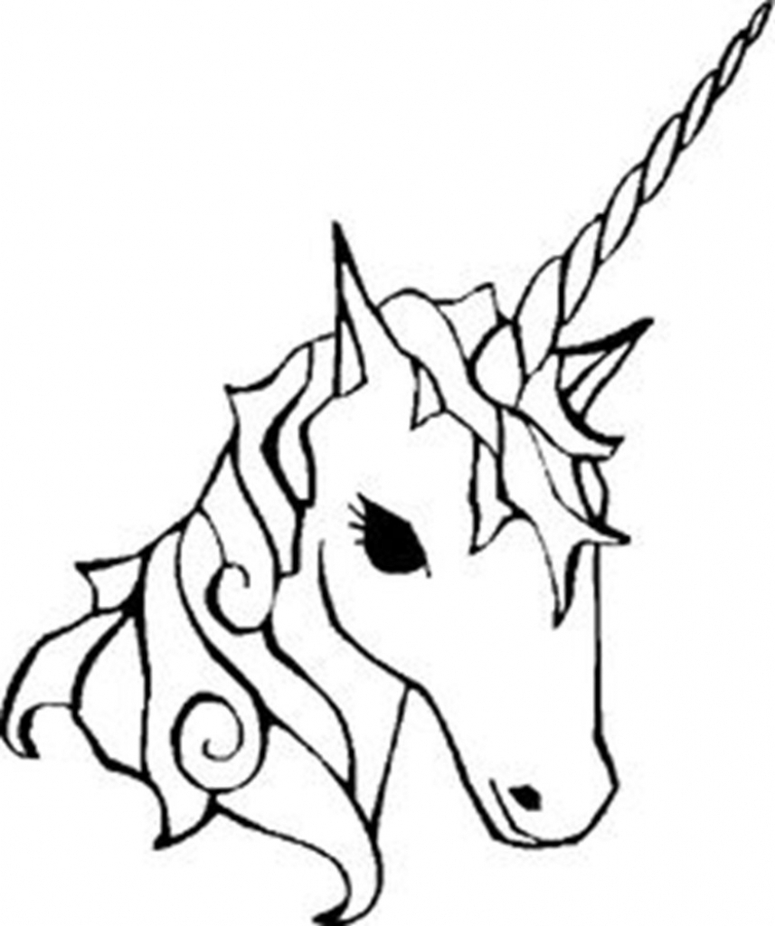 857x1024 Simple Unicorn Drawing How To Draw An Easy For Kids