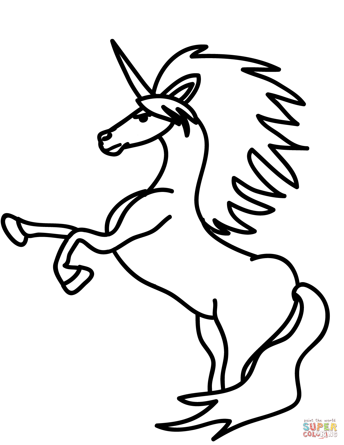 Easy Unicorn Drawing at GetDrawings | Free download