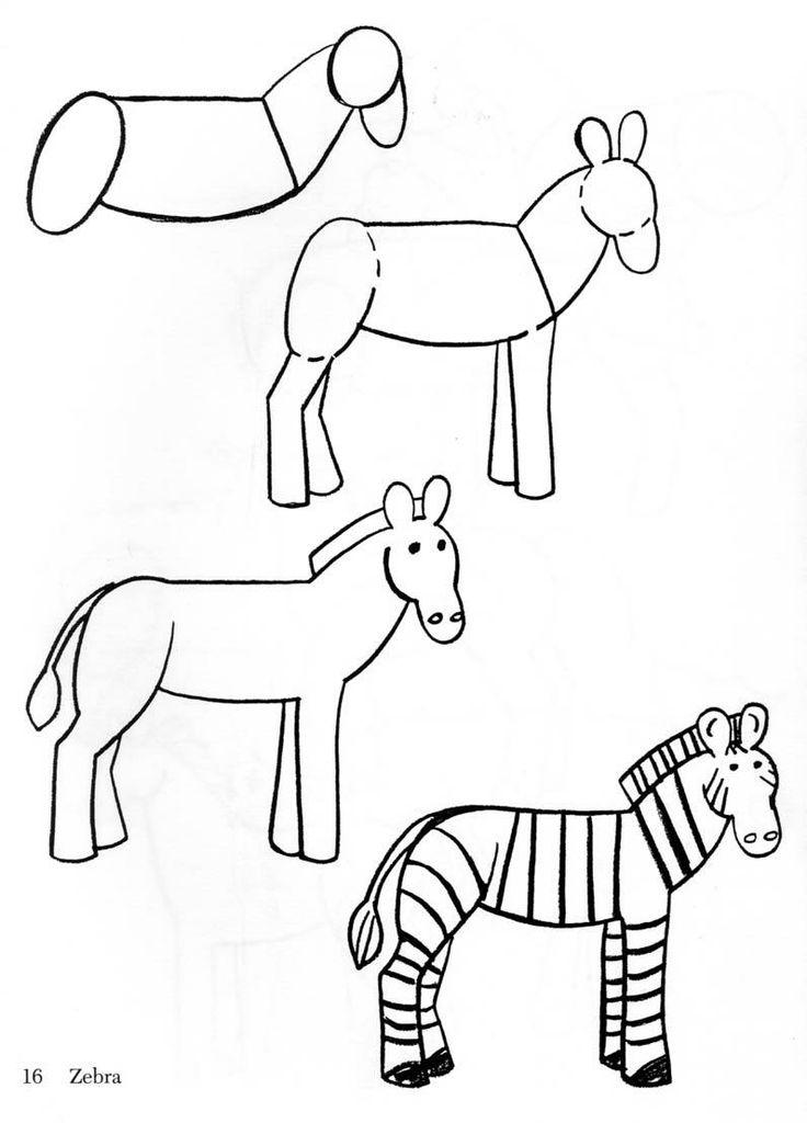 Easy Zebra Drawing