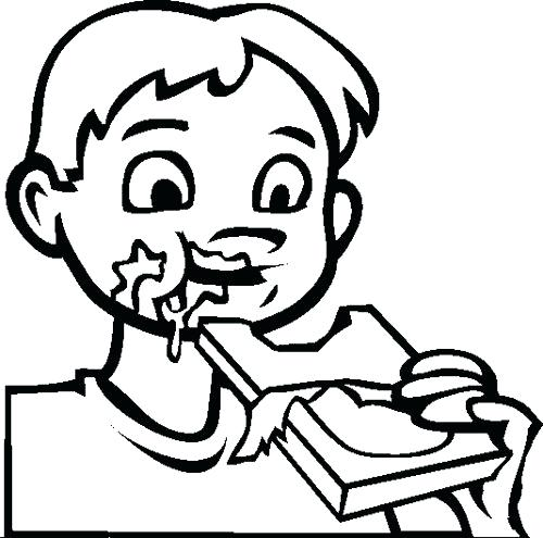 500x495 Eating Coloring Pages Curious Coloring Pages Curious Eating Big