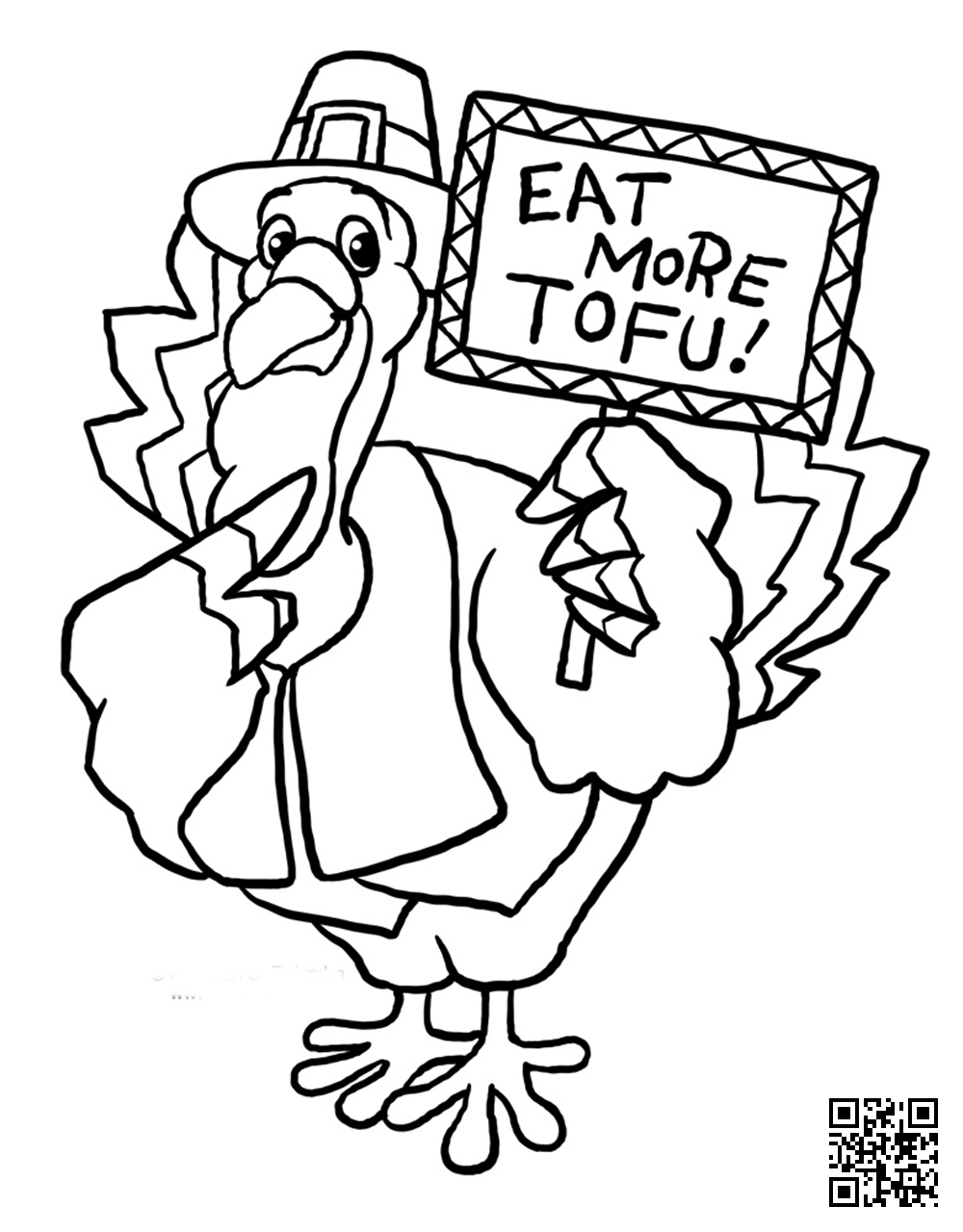 1000x1280 Thanksgiving Coloring Page
