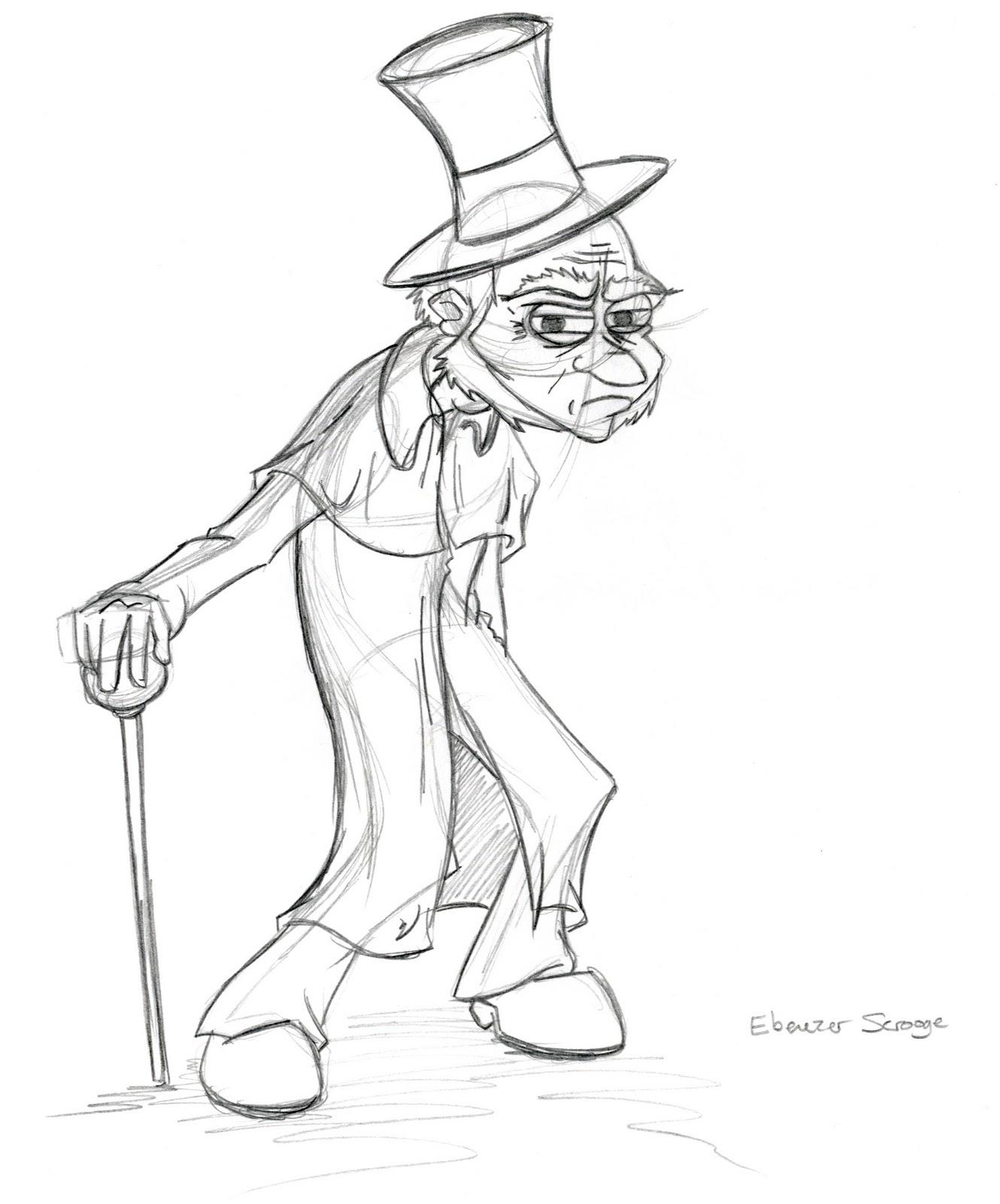 Ebenezer Scrooge Christmas Carol Characters.Ebenezer Scrooge Drawing At Getdrawings Com Free For