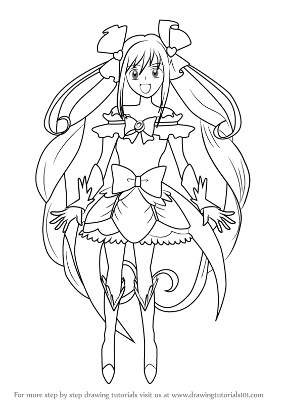 566x800 Learn How To Draw Cure Echo From Pretty Cure (Pretty Cure) Step By