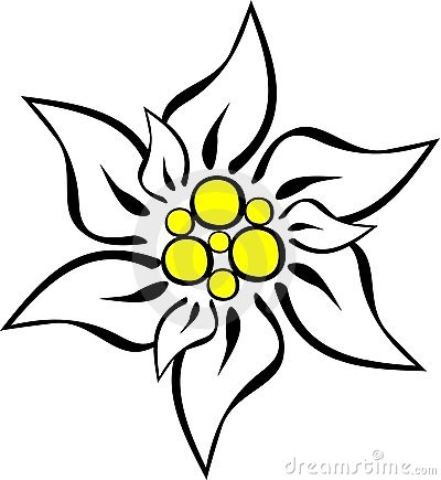 400x435 Edelweiss Stock Illustrations 120 Edelweiss Stock Illustrations