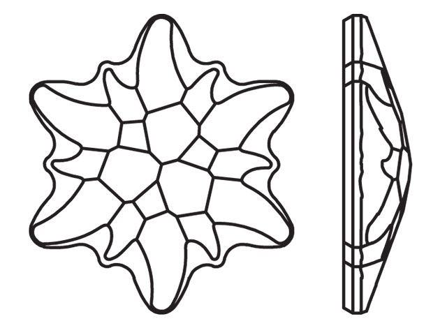 640x480 Swarovski 2753 10mm Edelweiss Flatback Crystal Artbeads