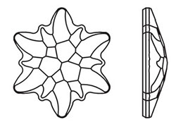 250x180 Swarovski 2753 Edelweiss Flat Back Crystal Ab 14mm Dreamtime