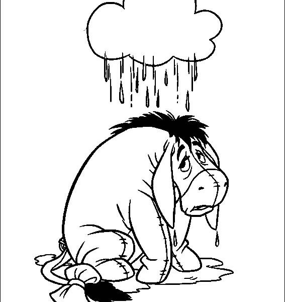 567x600 Eeyore Pictures To Print Eeyore Coloring Pages Educational Fun