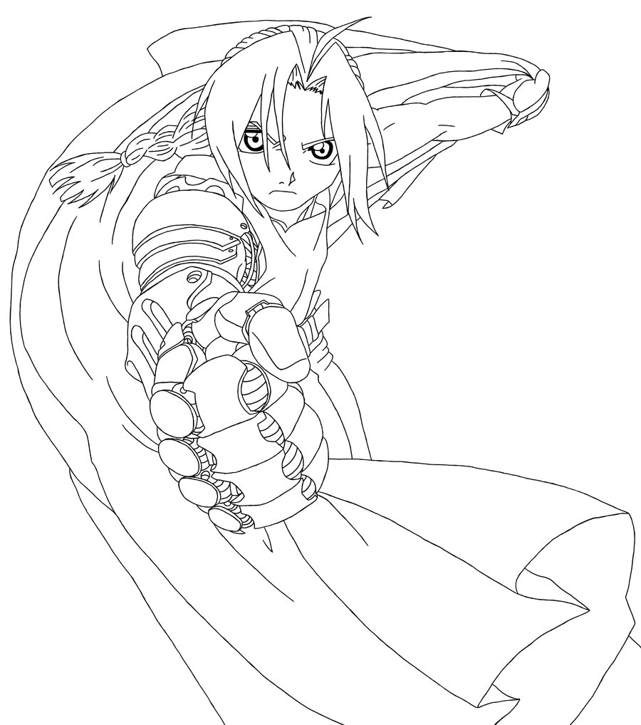 900x1018 Edward Elric Line Art By Tacdlunaria91 On Lineart