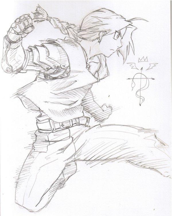 600x754 Edward Elric By Pen Scribble