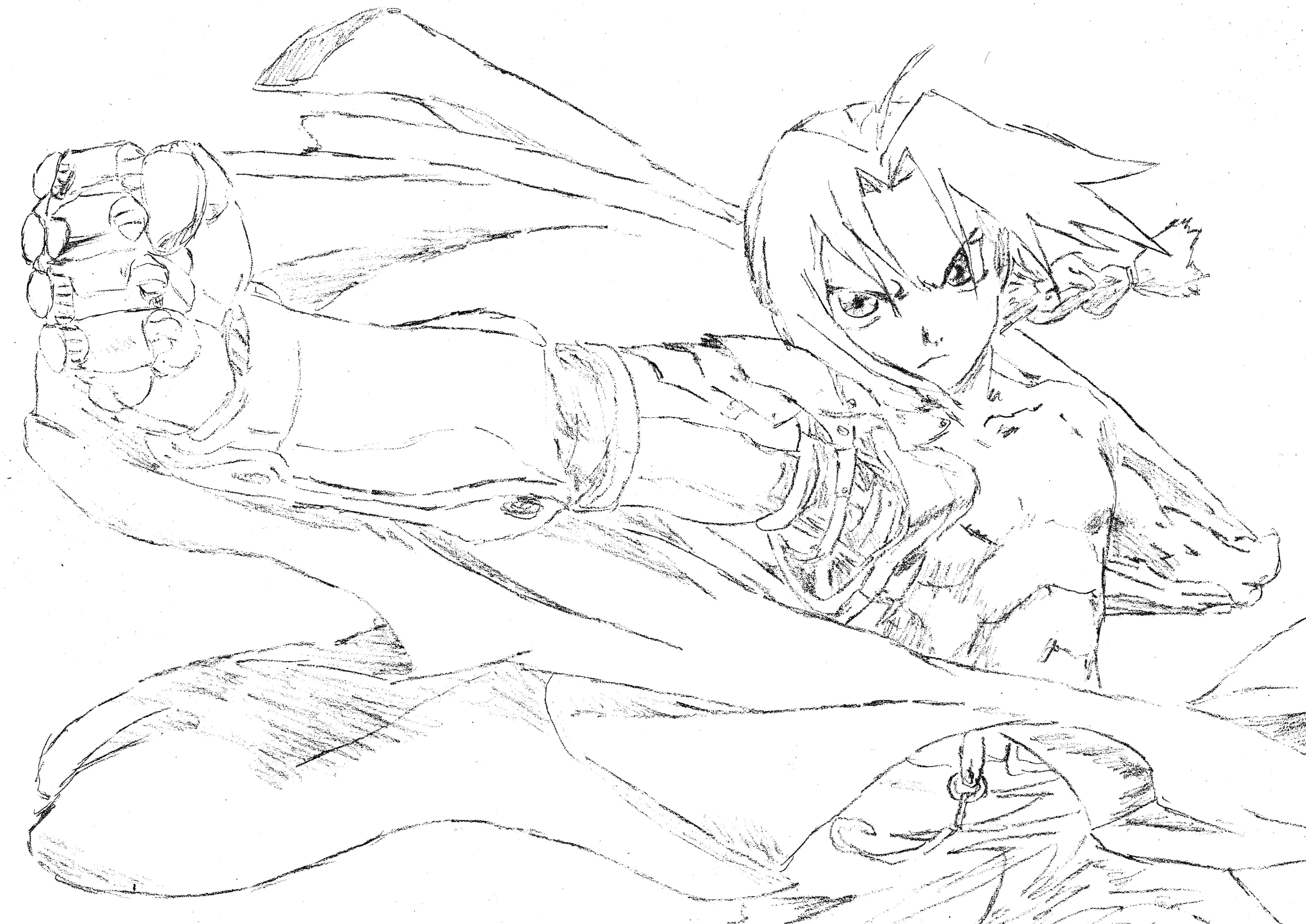 7014x4962 Fullmetal Alchemist Edward Elric Drawing By Lenarax