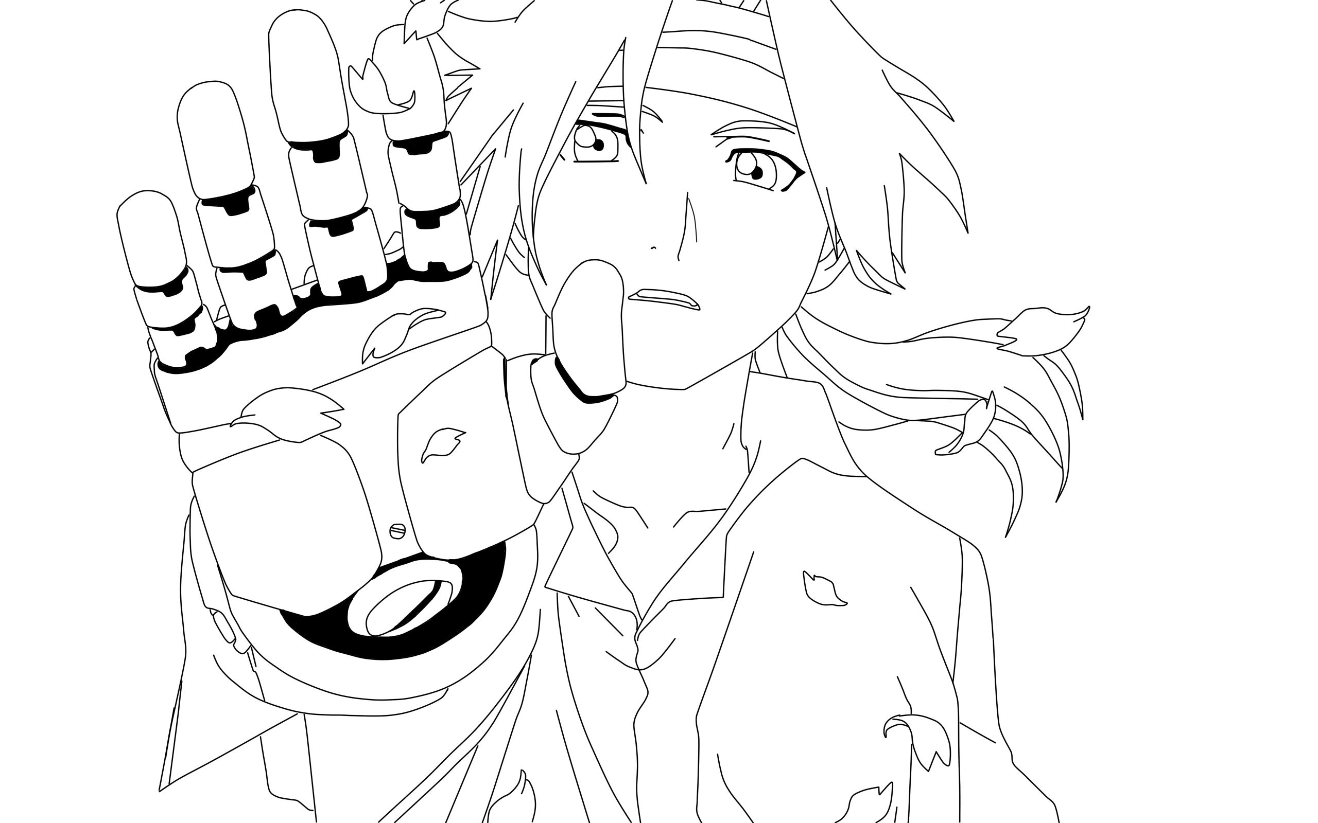 2560x1600 Lineart Edward Elric By Fresh Anime