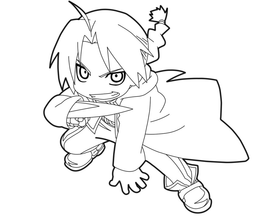 900x720 Mini Elric (Chibi Edward Elric) Lineart By Animemaniaco Lineart