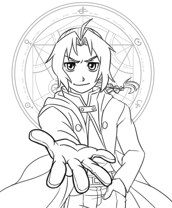 free fullmetal alchemist coloring pages - photo#44