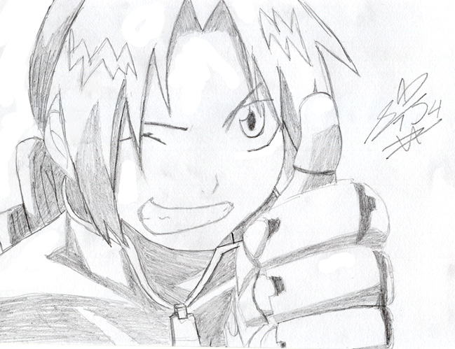 649x499 Edward Elric Drawing By Summer Lights