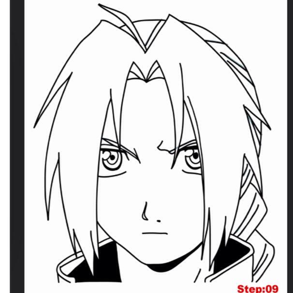 606x606 Drawing Of Edward Elric Fullmetal Alchemist Edward