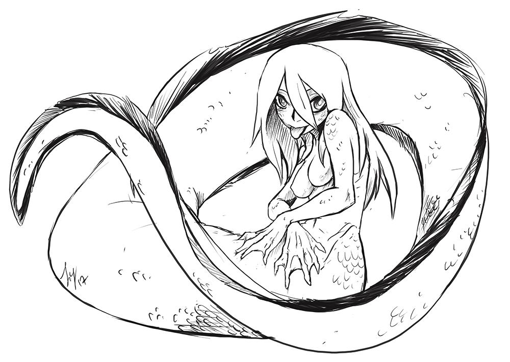 1000x710 Monster Girl Eel By Greyanimebeast