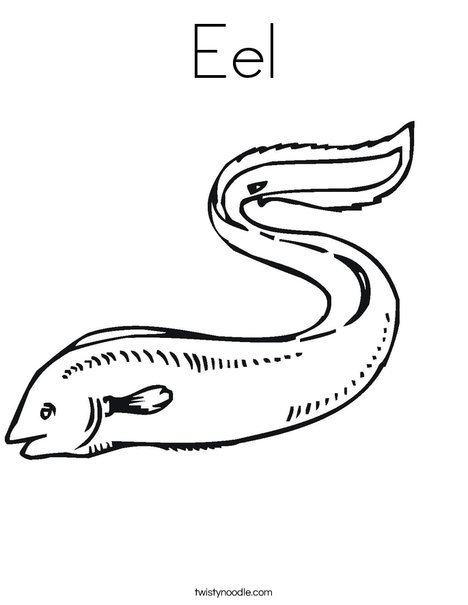 468x605 Eel Coloring Page