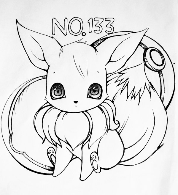 600x656 New Eevee Coloring Pages Best Design
