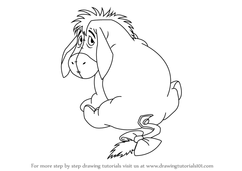 800x566 Learn How To Draw Eeyore From Winnie The Pooh (Winnie The Pooh