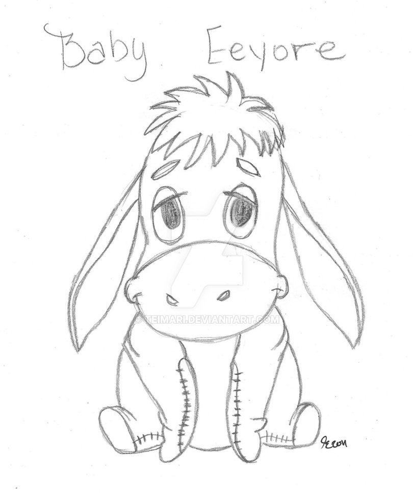 812x983 How To Draw Baby Eeyore Step 5. Eeyore. Baby Pooh Images Pooh