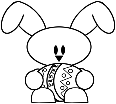 400x359 How To Draw A Baby Bunny Holding An Easter Egg Drawing Tutorial