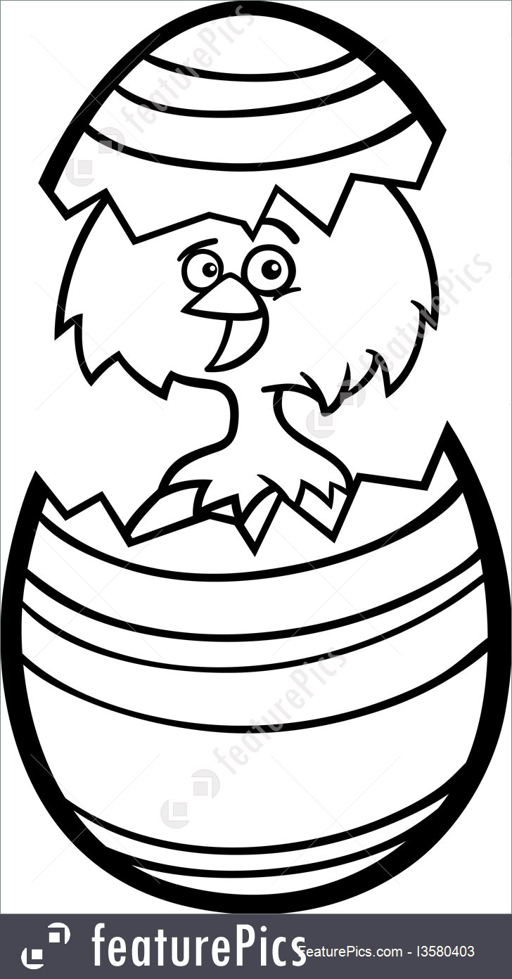 728x1392 Illustration Of Chicken In Easter Egg Cartoon For Coloring