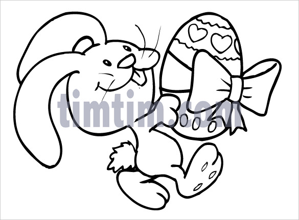 585x431 Strong Easter Drawing Ideas Egg Coloring Pages Big Basket
