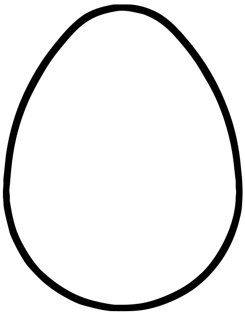 Egg Outline Drawing