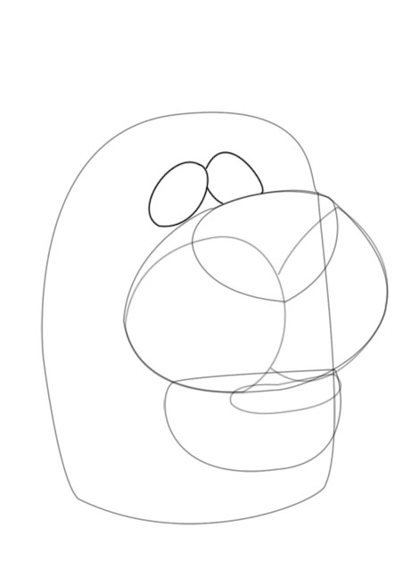 470x638 Quick Guide To Drawing Scooby Doo Drawing Scooby's Head Feltmagnet
