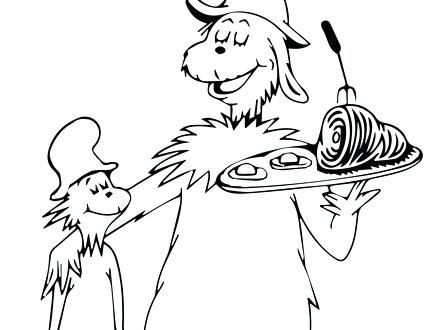 440x330 Fascinating Green Eggs And Ham Coloring Pages 26 For Line Drawings