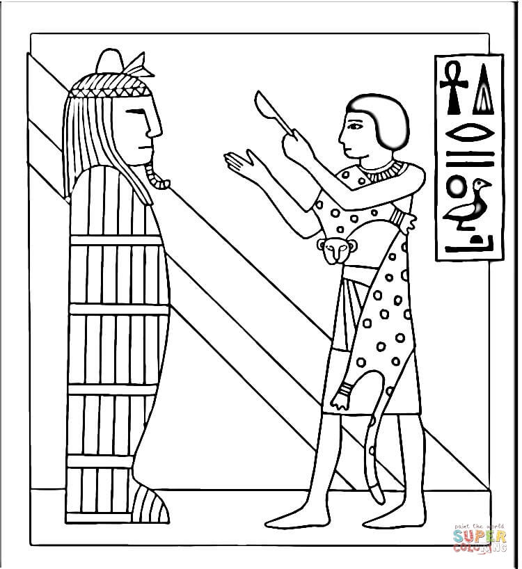 Awesome Ancient Egypt Mummy Coloring Pages Photos - Coloring 2018 ...