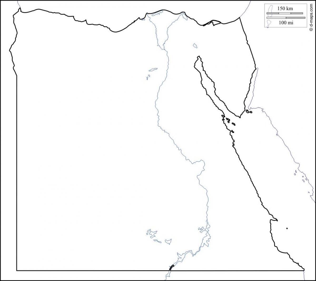 1200x1065 Egypt Map Black And White