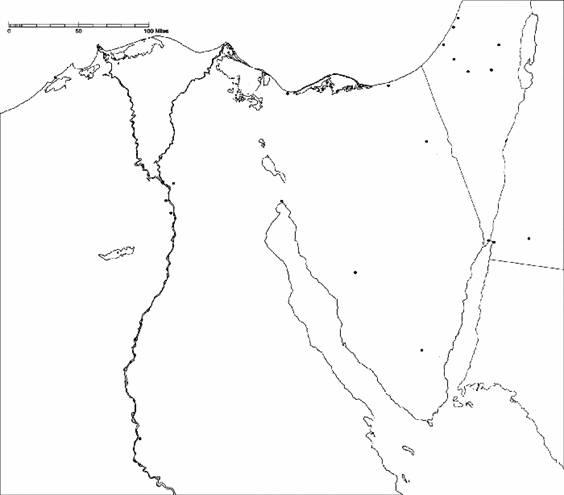 564x495 Exodus Sinaiegypt Map Workbook Exercise