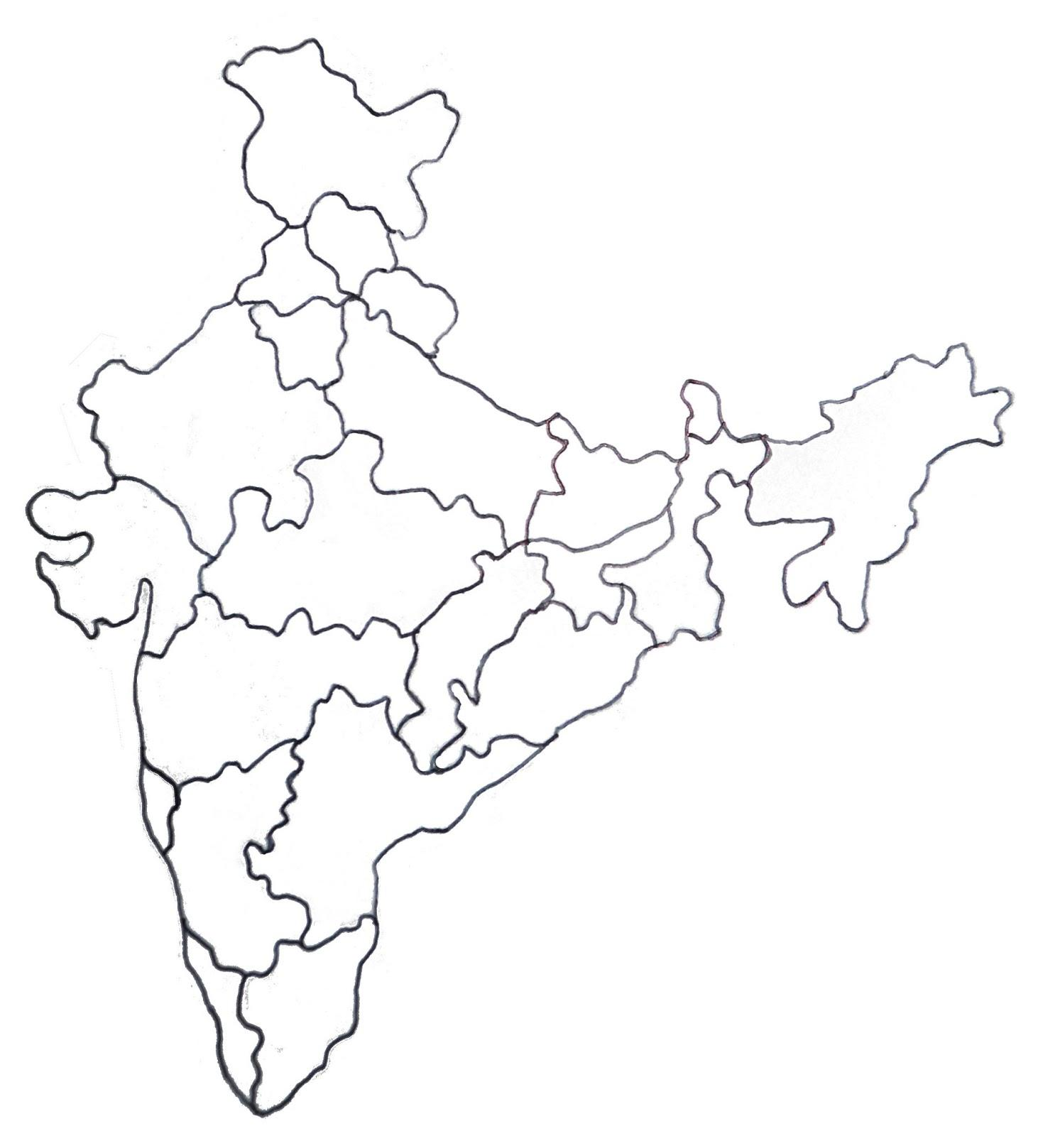 1462x1600 India Map Drawing