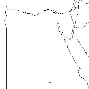 351x352 Blank Outline Map Of Egypt Schools