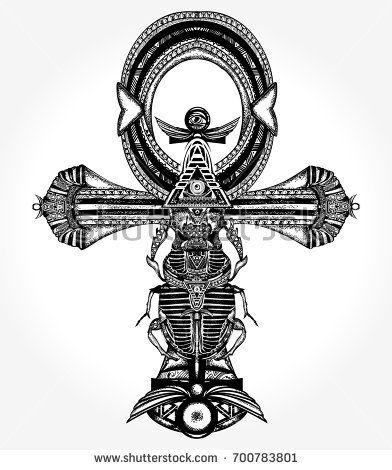 392x470 Ankh Tattoo And T Shirt Design, Ancient Egyptian Cross T Shirt