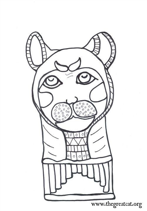 Egyptian Cat Drawing