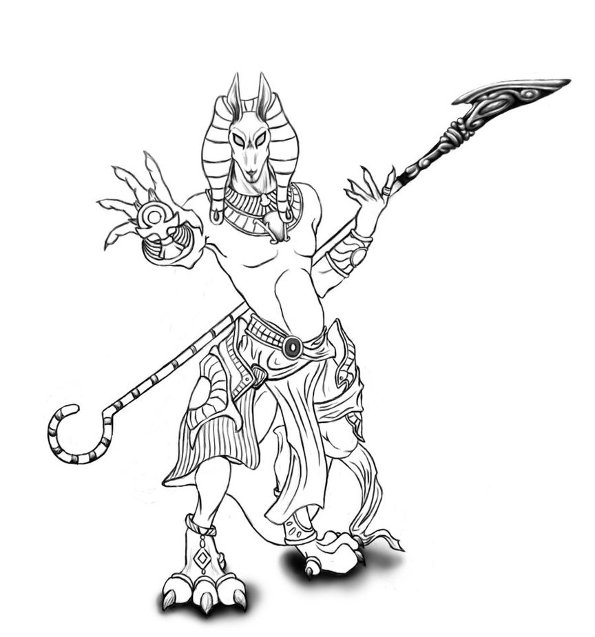Egyptian Gods Drawing at GetDrawings com | Free for personal
