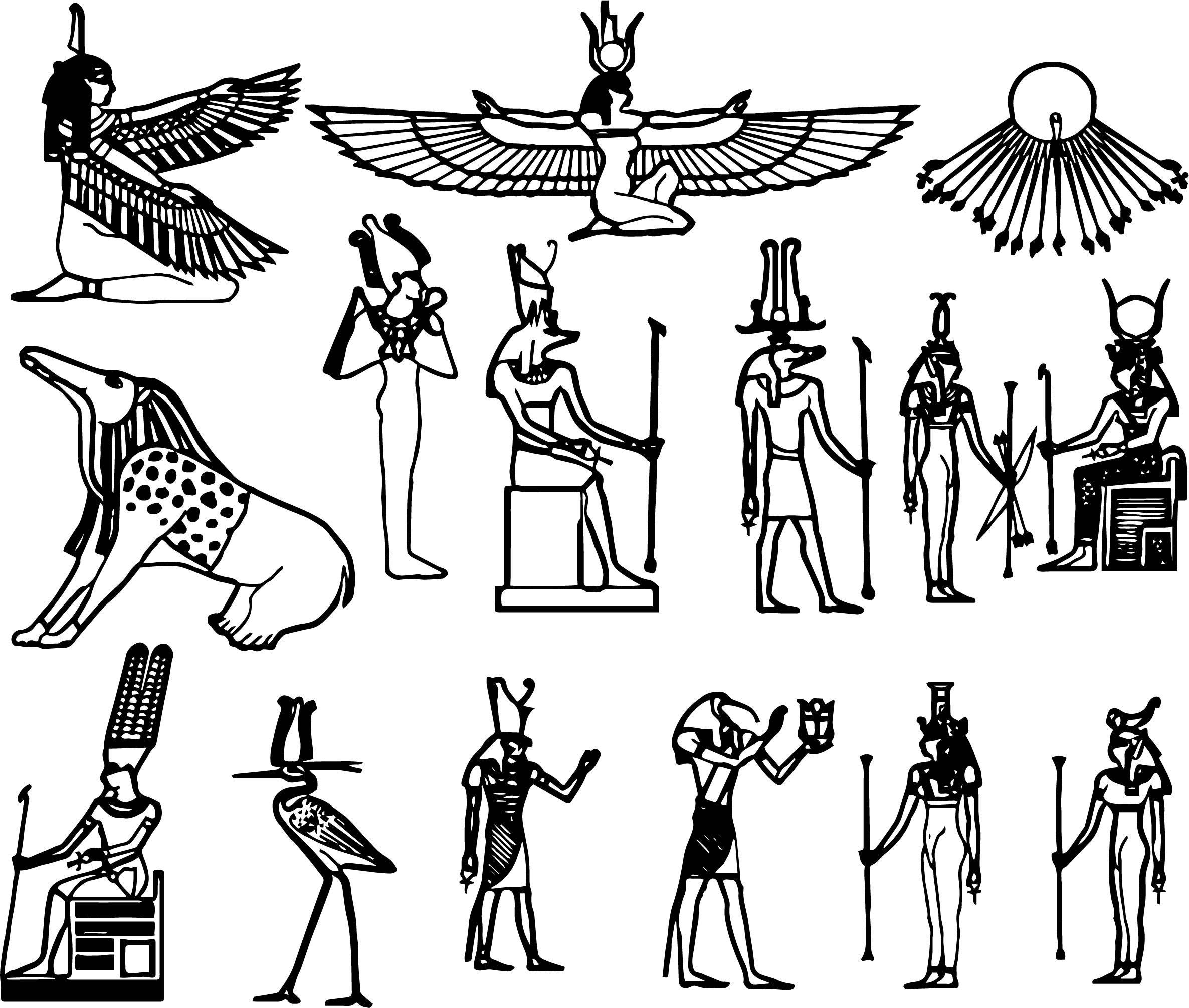 Egyptian Gods Drawing At Getdrawings Free For Personal Use