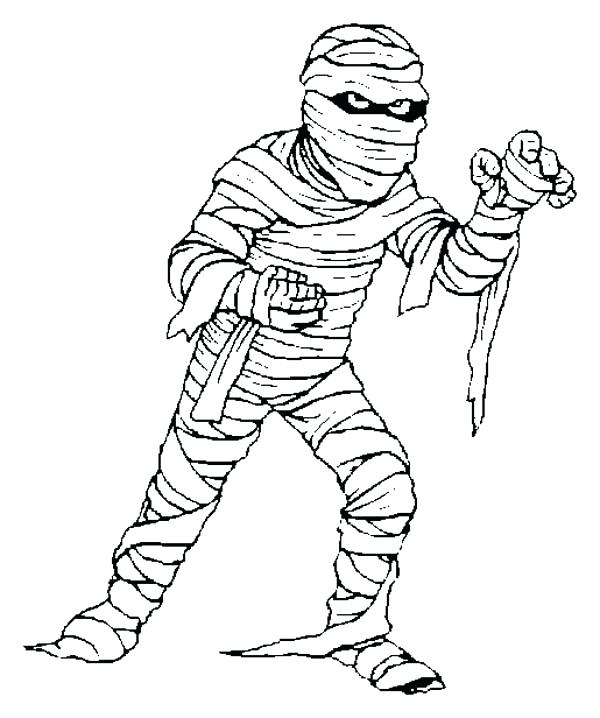 600x718 Egyptian Mummy Coloring Pages Coloring Page Outline Mummy Sample