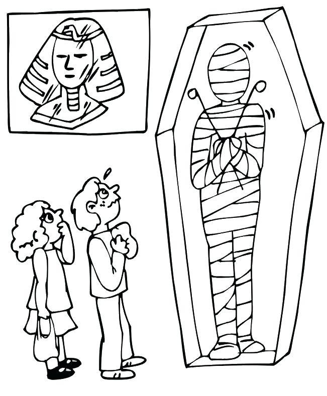 651x789 Egyptian Mummy Coloring Pages