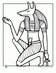 231x300 Free Ancient Egypt Coloring Pages About 9 All Together, Only