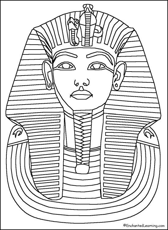 550x752 King Tut Gold Sarcophagus Of Ancient Egypt Coloring Page