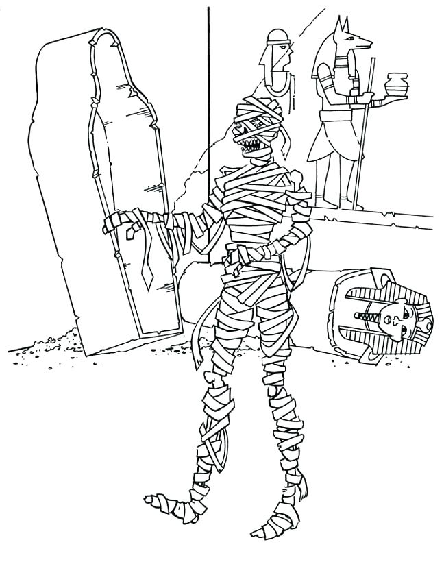 648x839 Mummy Coloring Pages Printable Photos For Kids Egyptian Sheets