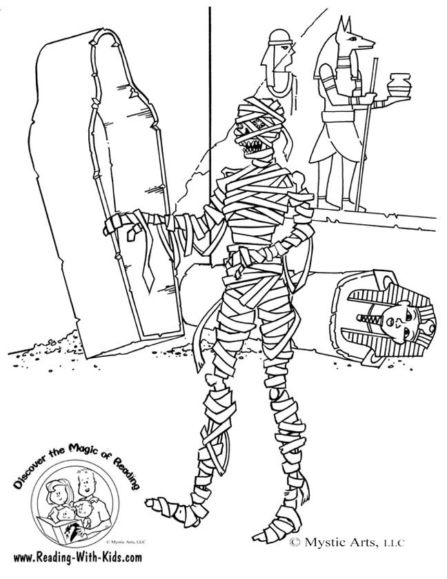 648x839 Mummy Coloring Pages Halloween