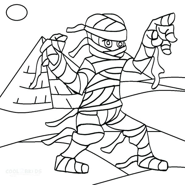 599x600 Printable Mummy Coloring Pages Photo Of For Kids Pig Colouring