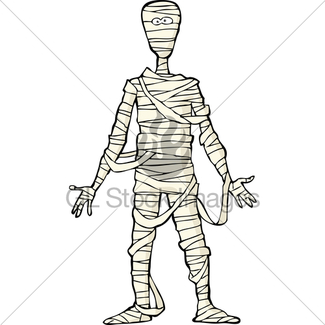 325x325 Scary Cartoon Egyptian Mummy In Front Of Pyramids Gl Stock Images