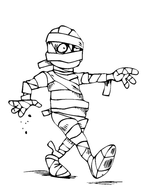 halloween mummy coloring pages - photo#24